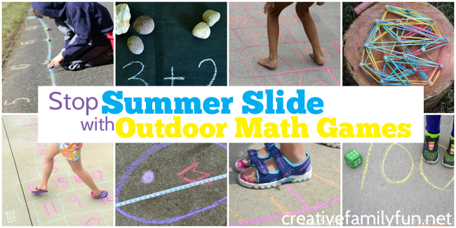 Stop Summer Slide with Outdoor Math Games