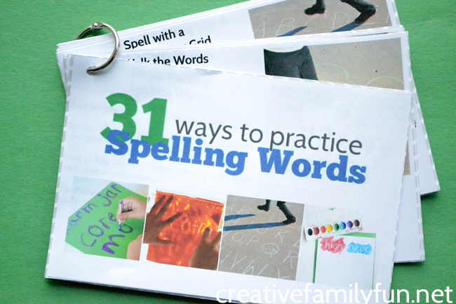 Spelling practice printable ebook