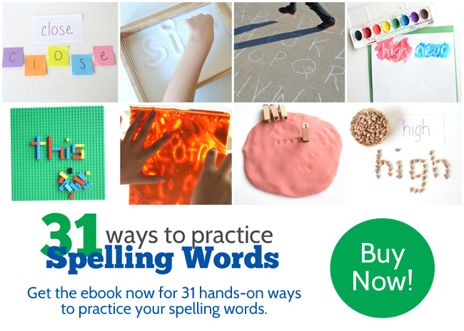 Find 31 fun ways to practice spelling words that are hands-on, creative, and different from anything you've ever tried before.