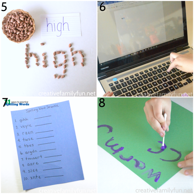 Take the boredom out of spelling practice with one of these fun, hands-on ways to practice spelling words. Spelling has never been so much fun!