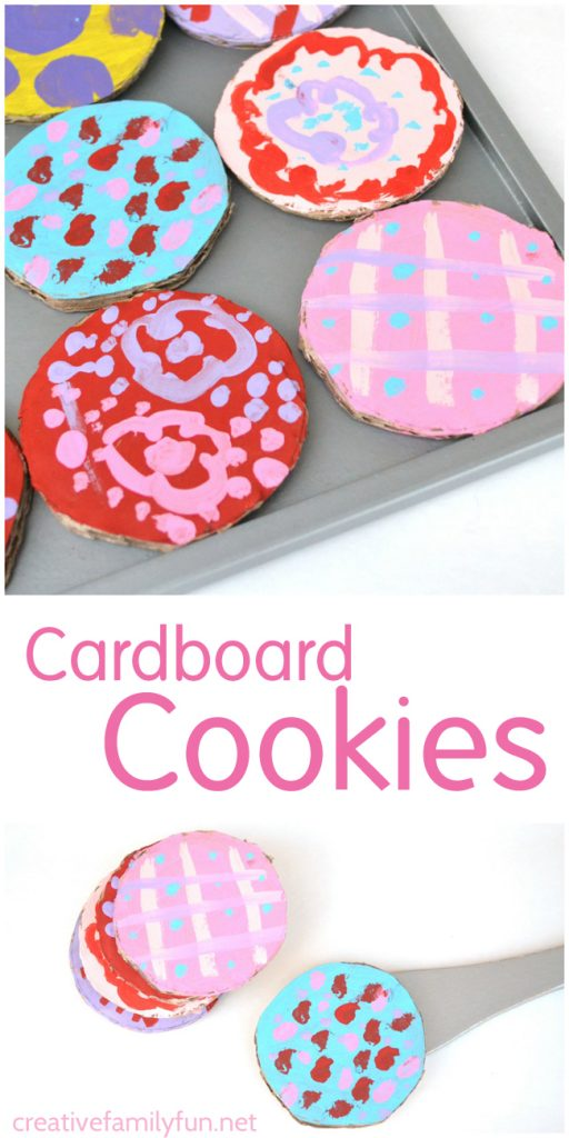 Making a batch of cardboard cookies is a simple and fun project. So, get out some recycled materials to make this cardboard kids craft.