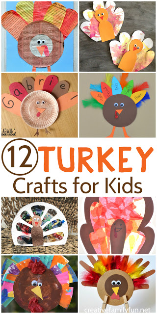 Get ready for Thanksgiving by making one of these fun turkey crafts for kids. They're all fun, colorful, and perfect to use when decorating for the holiday.