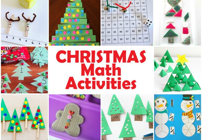 Make math fun this holiday season with one of these Christmas math activities for kids. You'll find activities for both preschoolers and elementary kids.