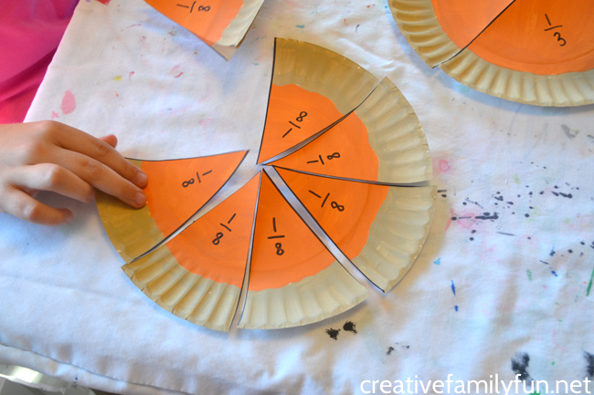 Pumpkin Pie Fractions Math Activity