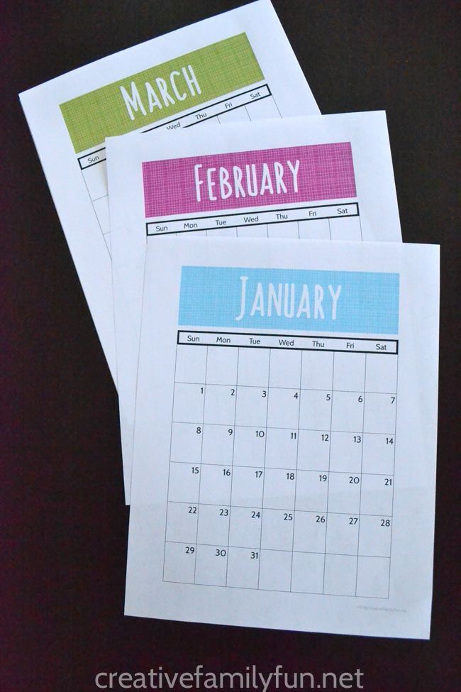 Keep organized with this free printable 2017 calendar. It prints vertically and fits perfectly on a clipboard or in a pretty binder.
