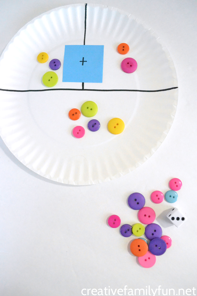 Make a simple DIY paper plate addition game to help your child practice math skills like addition and subraction. Fun for the classsroom and home.