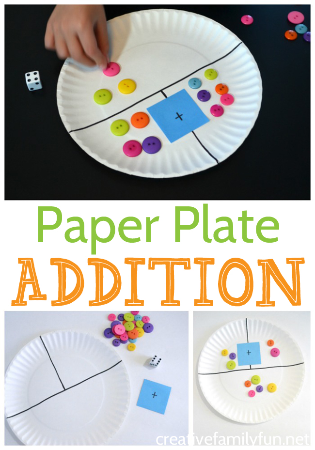 This simple paper plate addition game is a great hands on tool to help your child practice math skills while having lots of fun.