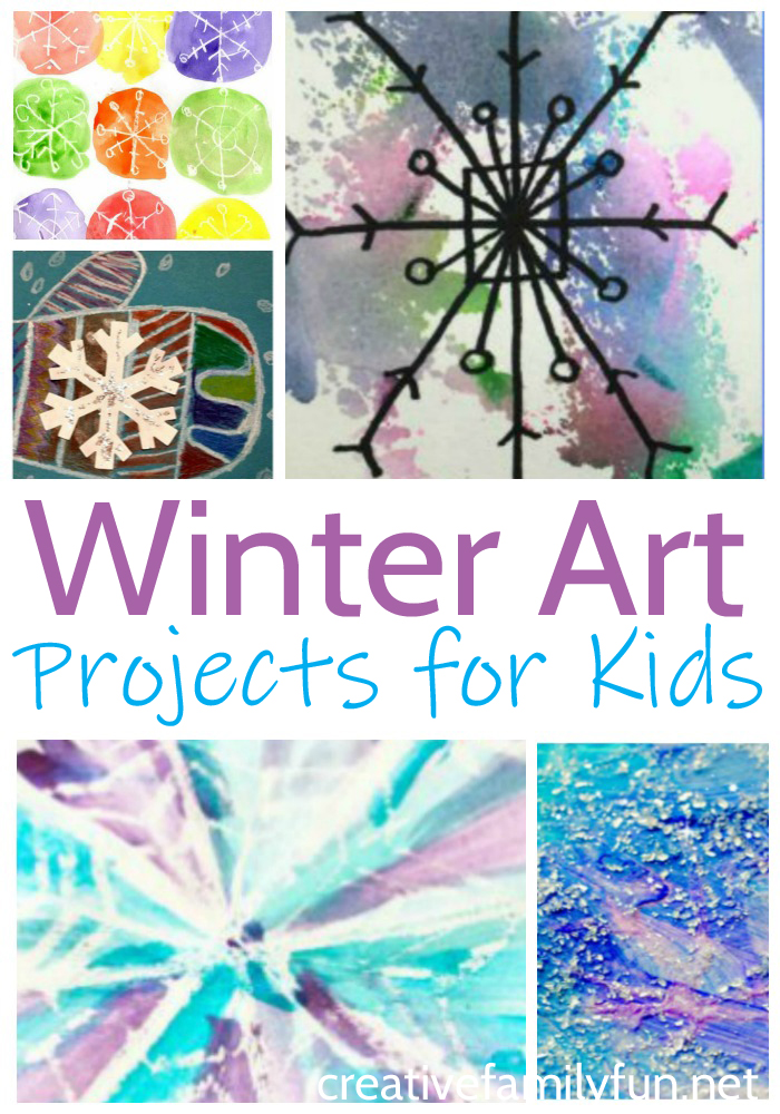 Explore all the sights, sounds, and colors of winter with one of these fun and beautiful winter art projects for kids. You'll want to make them all.
