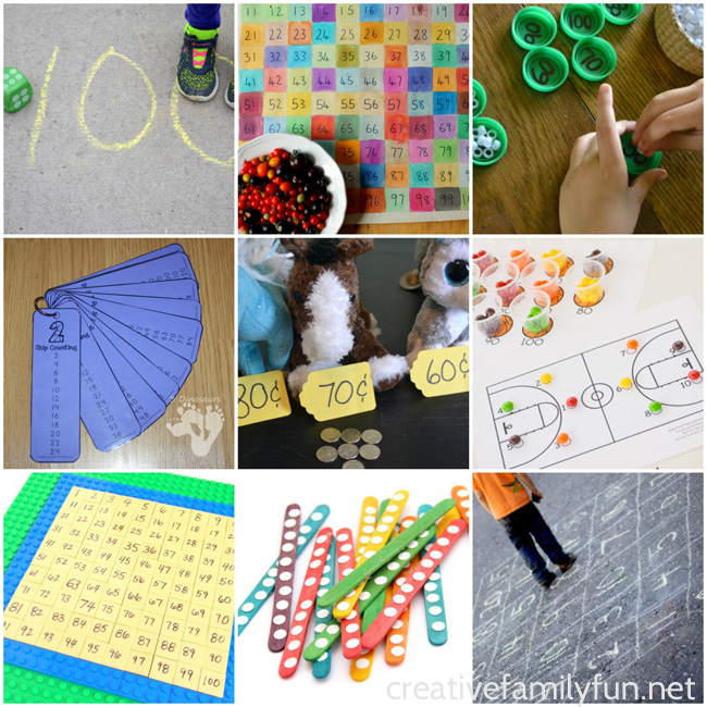 Help your kindergartner with math at home with one of these hands-on counting to 100 activities to help your child with counting by ones and tens.