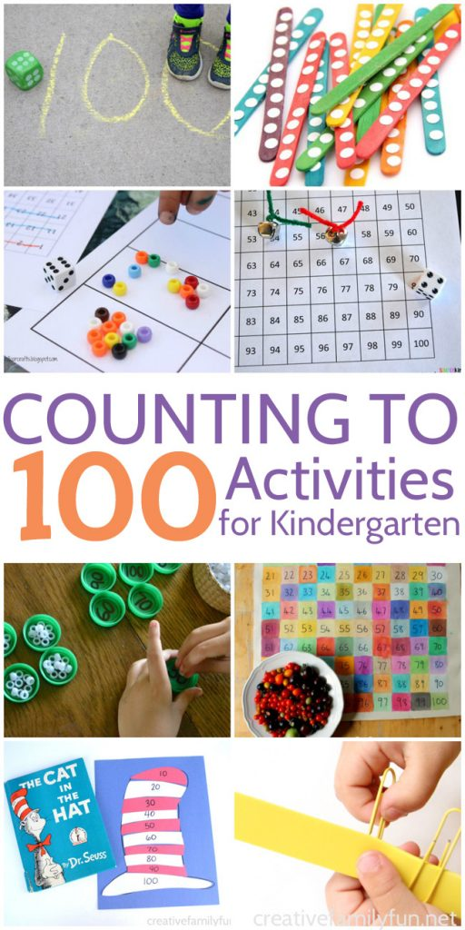 Counting To 100 Activities For Kindergarten Creative Family Fun