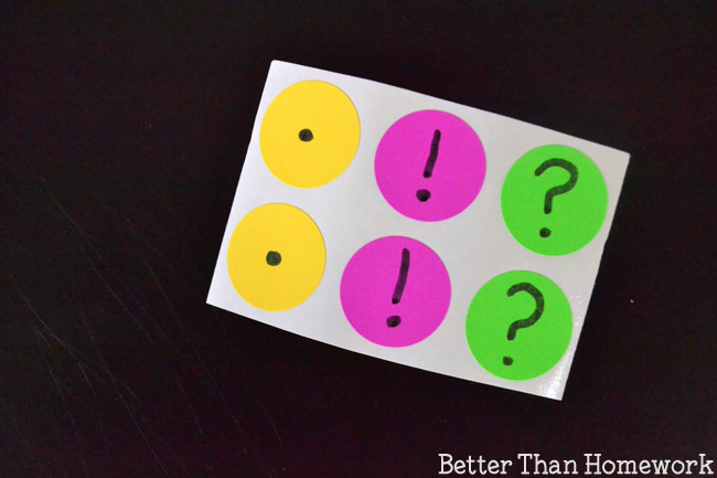 Practice adding the correct punctuation to the end of a sentence with this easy grammar game.
