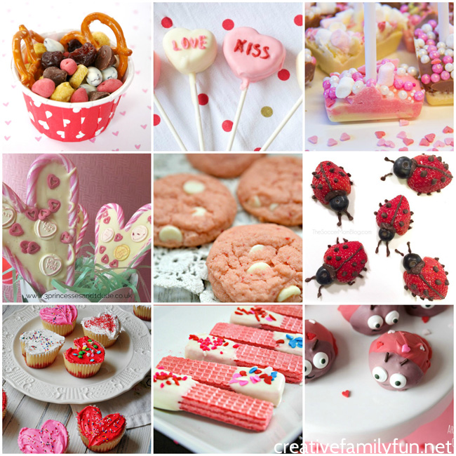 Get in the kitchen and make some Valentine's Day treats with your kids. All of these ideas are perfect for the holiday and perfect for kids to make.