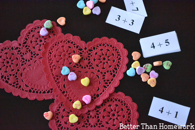 Candy Heart Addition Valentine's Day Math Activity