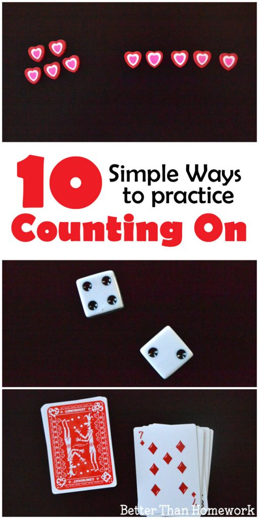 Practice counting on with one of these ideas that use simple supplies that you can do at home. They're easy, hands-on, and fun.