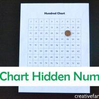 Hundred Chart Hidden Number Game