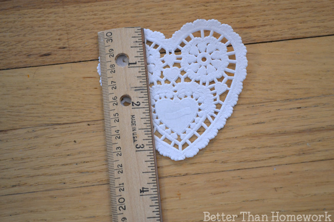 Use heart doilies for a fun hands-on way to practice measuring with nonstandard units with this fun Valentine's Day math activity.