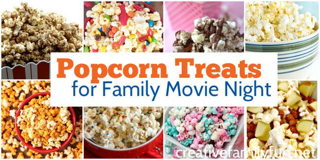 Yummy Popcorn Treats for Your Next Family Movie Night