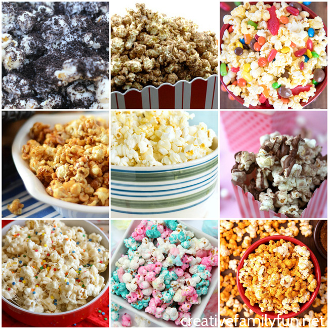 Make family movie night more special by making one of these sweet or savory popcorn treats. You'll definitely find one your whole family will love.