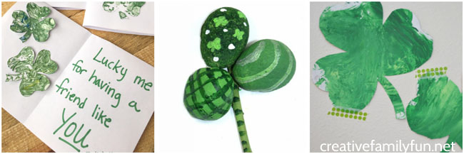 Get in the spirit of St. Patrick's Day by making one of these fun shamrock crafts for kids. They's all so much fun!