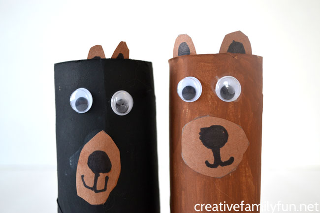 Cardboard Tube Bear Craft