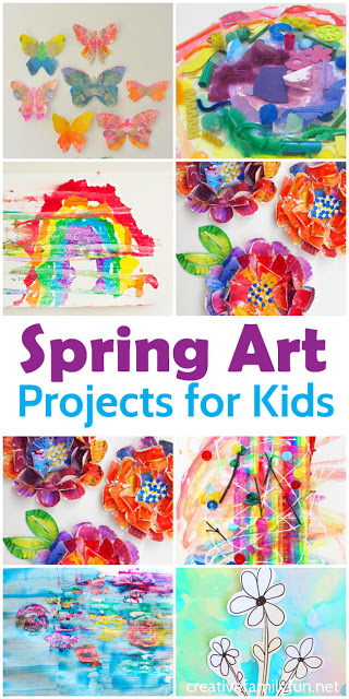 Create beautiful spring flowers, butterflies, rainbows, and more with these awesome Spring art projects for kids. These projects are easy, colorful, and very fun to create.