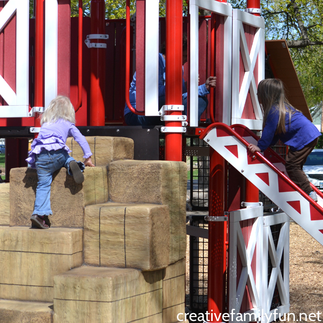 "Go on a fun and inexpensive family adventure by discovering a ""new to you"" park together. You'll be able to get outside and have fun together."