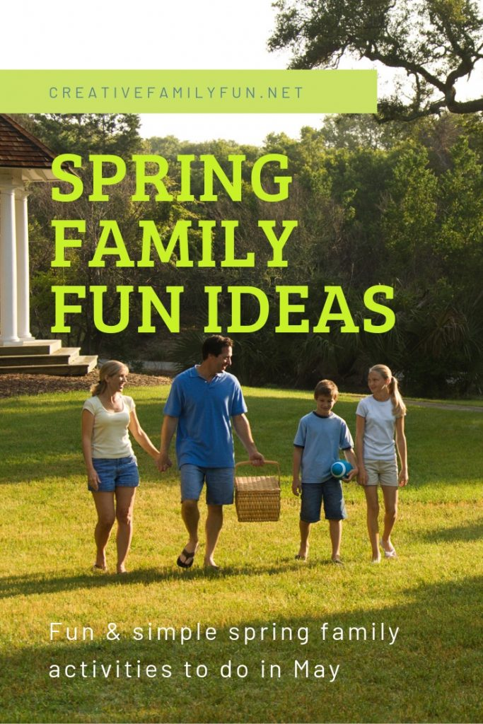 Enjoy some simple and fun quality time with your family this May with these Spring Family Fun Ideas. Print off the list and go have some fun together!
