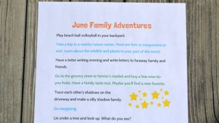 June Simple Family Fun Ideas