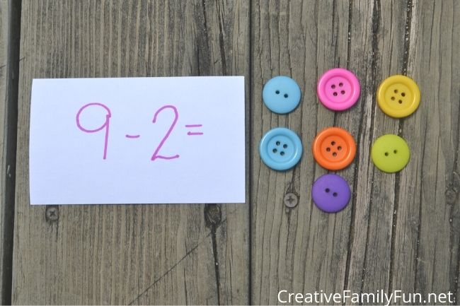 Math Manipulatives used in subtraction