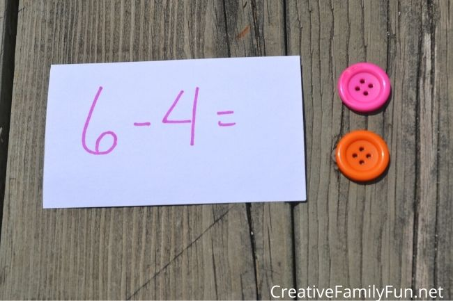 Subtraction loose parts math