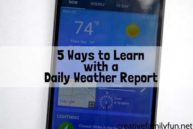 Get ready to learn with these fun daily weather for kids activities. Learn to read a radar, use the weather forecast, and more.