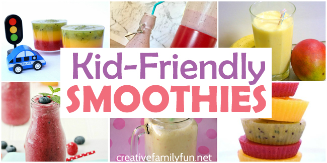 These delicious kid-friendly smoothie recipes are perfect for breakfast, lunch, or a refreshing snack. Try a fruity smoothie or a dessert-inspired smoothie.
