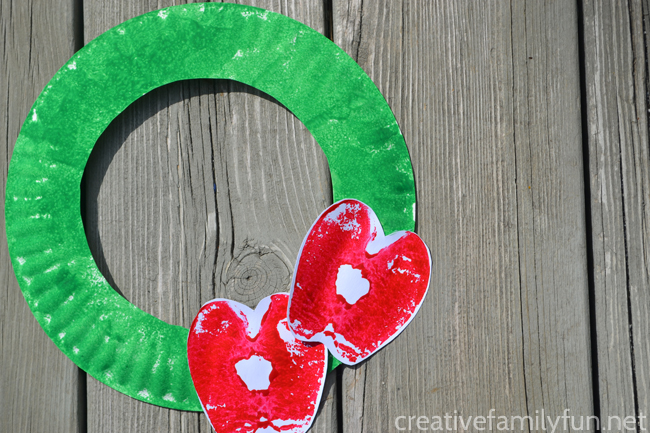 A is for Apple Print Wreath Kids Craft