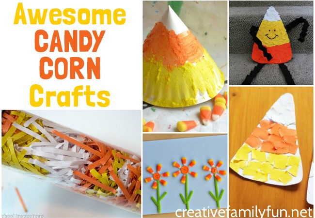 Halloween Candy Corn Crafts for Kids