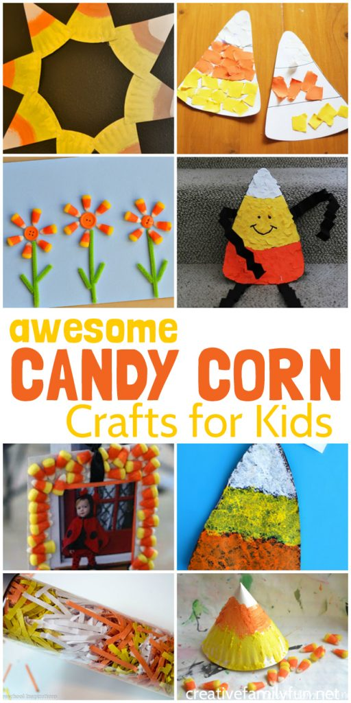Check out all these awesome Halloween Candy Corn Crafts for Kids. They're so much fun for kids to make and are fun homemade decorations.