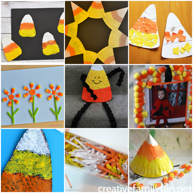 Check out all these awesome Halloween Candy Corn Crafts for preschoolers.