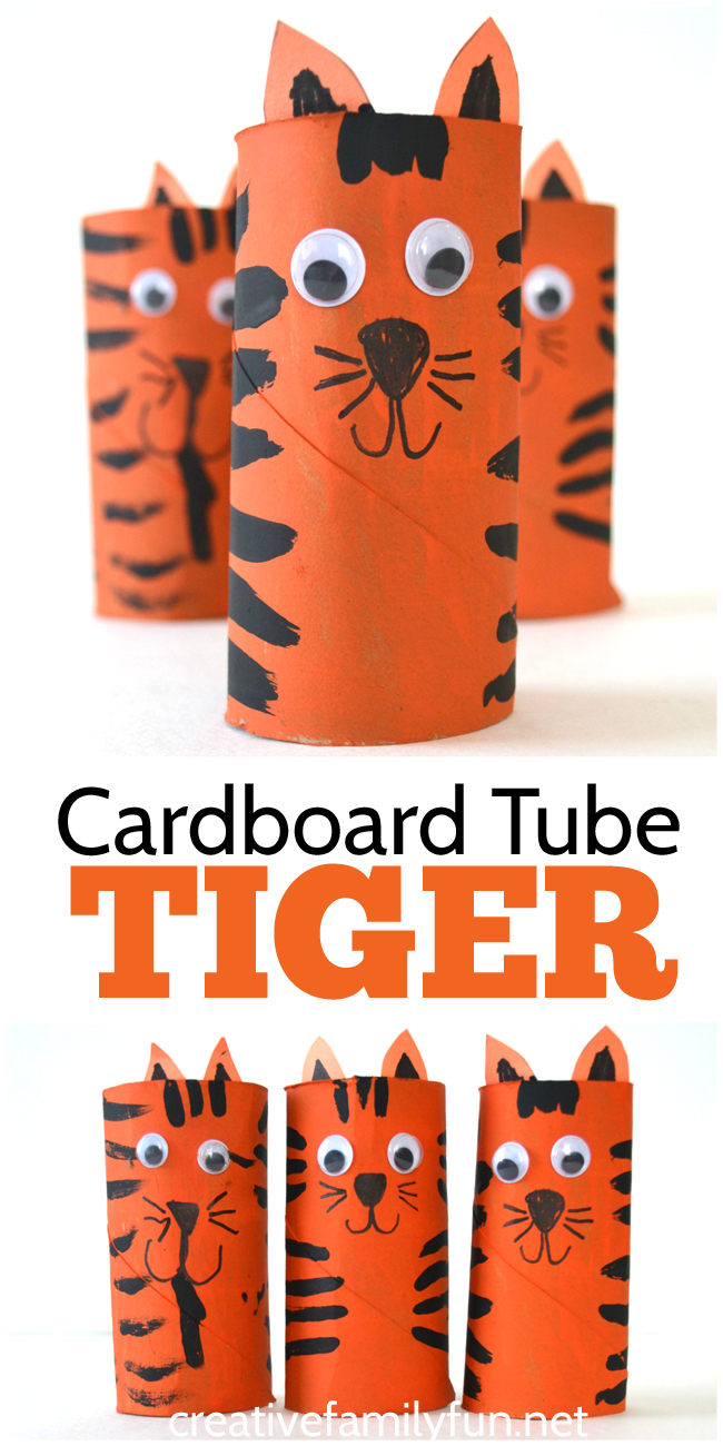 tiger craft ideas cardboard tiger craft for creative family 3107