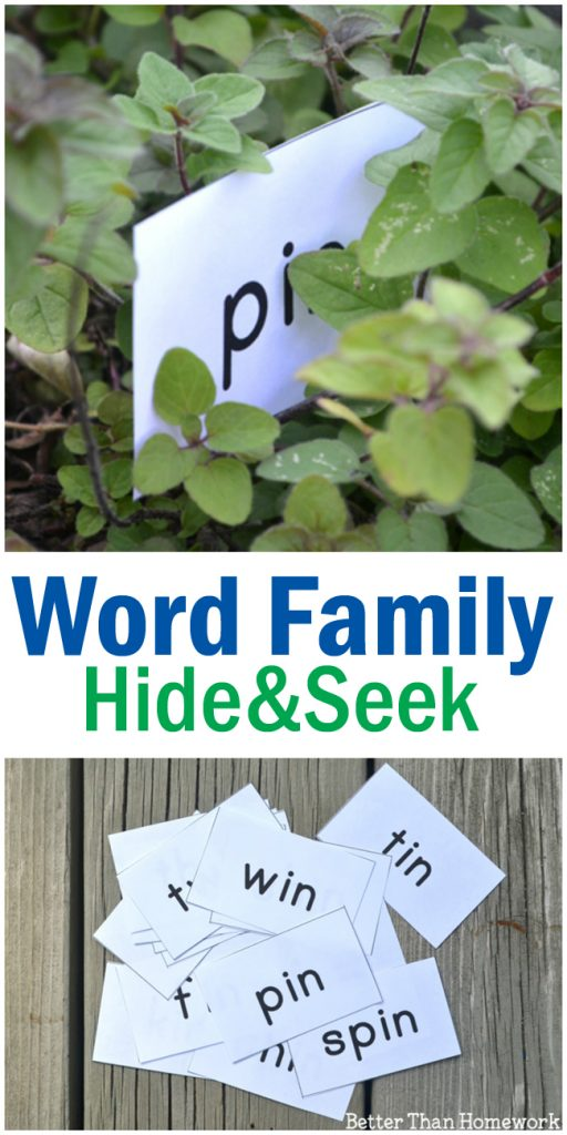 Hide words, find them, and read them with this fun IN Word Family Game: Hide and Seek Words. Post includes printable word cards.