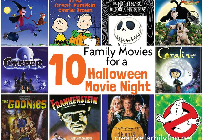 Top 10 Halloween Movies for Family Movie Night