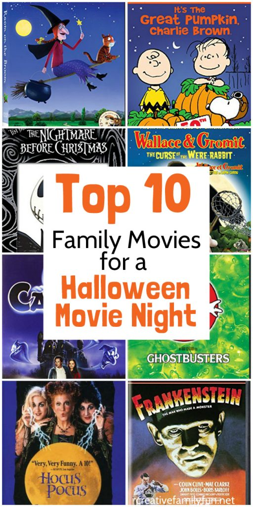 Have a fun Halloween family movie night with one of these fun family Halloween movies for kids. They're a little spooky and a lot of fun!