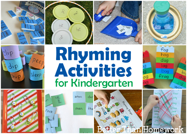 Fun Rhyming Activities for Kindergarten - Creative Family Fun