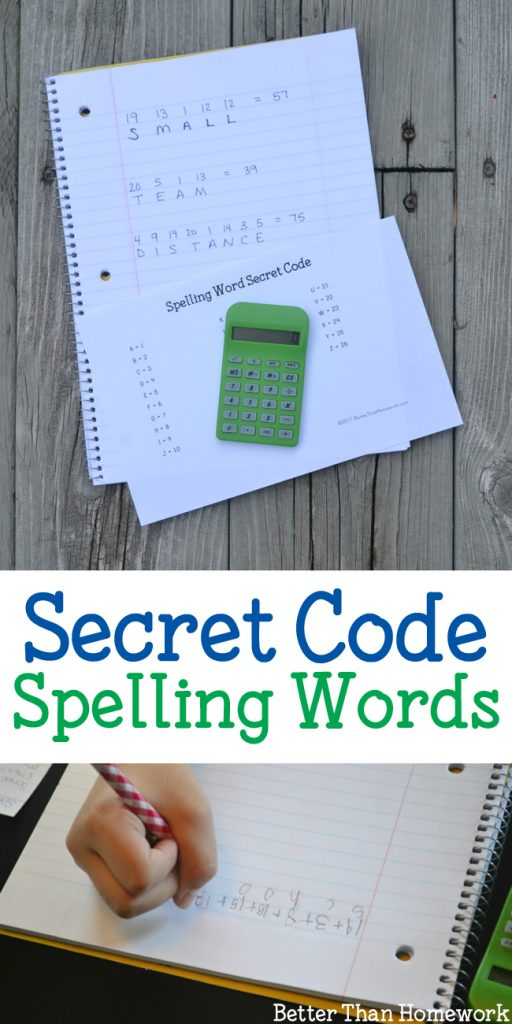 For a fun way to practice spelling words, turn them into a secret number code with this fun idea, Secret Code Spelling Words.