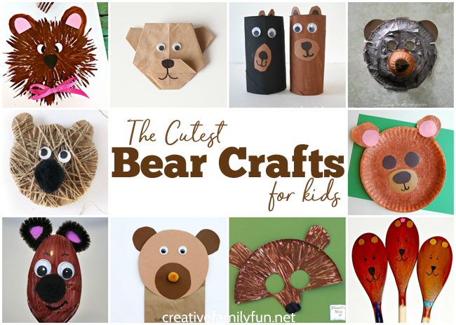 Grab your craft supplies and get started making some of these brown bear crafts for kids. They are the cutest ones you'll find!
