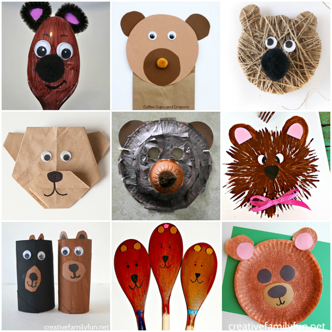 Grab your craft supplies and get started making some of these brown bear crafts for preschoolers. They are the cutest ones you'll find!
