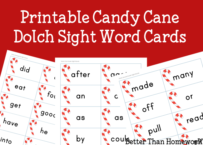 picture about Printable Candy Cane named Printable Sweet Cane Sight Terms - Imaginative Household Entertaining