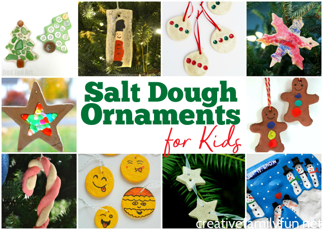 Salt dough is the perfect medium for making fun keepsake ornaments. Here are the best Salt Dough Ornaments for kids to make.