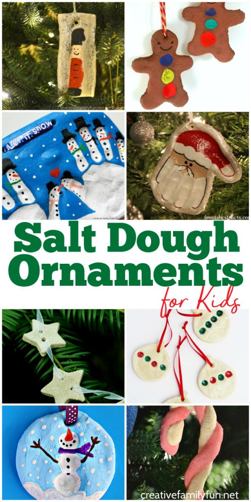 Salt dough is the perfect medium for making fun keepsake ornaments. Here are the best Salt Dough Ornaments for kids to make. #Christmas #kidscrafts #CreativeFamilyFun