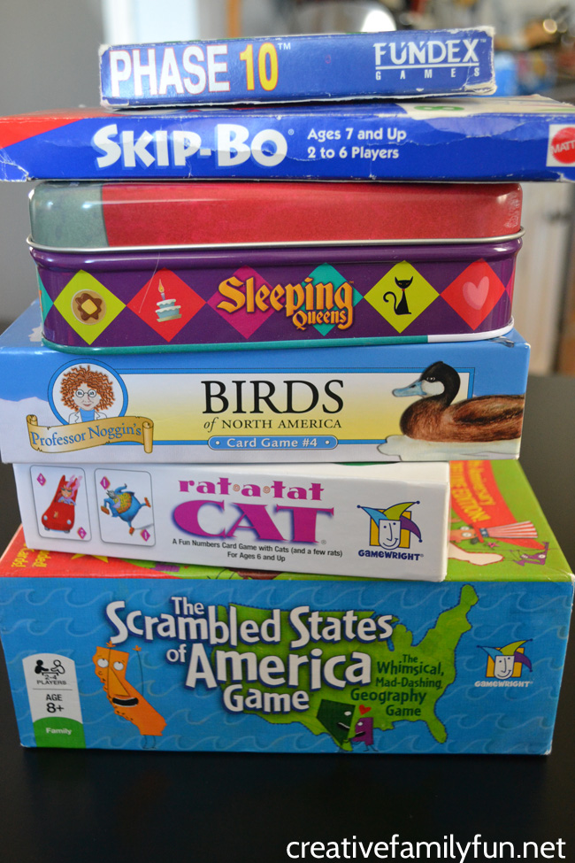 Pick up one of these easy to play card games for your next family game night. Here are over 20 family card games that easy to learn and fun for all ages.