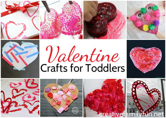 Fun And Simple Valentine Crafts For Toddlers Creative Family Fun