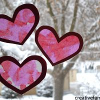 Coffee Filter Valentine Heart Suncatcher